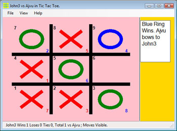 Local and Internet 'Tic Tac Toe' Game